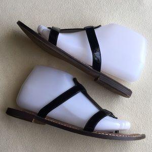 "Sam Edelman Shoes - Sam Edelman ""Kira"" black patent flat sandals sz 9"